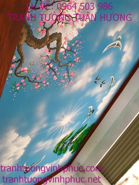 vẽ trần mây 3d tại vĩnh phượng bình xuyên vĩnh phúc6
