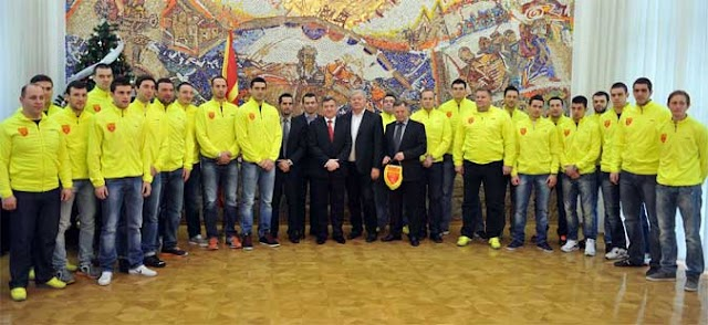 PRESIDENT IVANOV MEETS MACEDONIAN HANDBALL TEAM AHEAD OF WORLD CHAMPIONSHIP