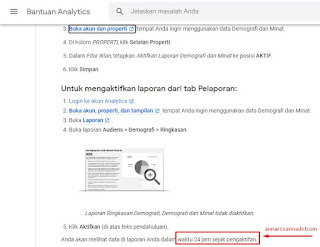 aktivasi laporan tracking data demografi google analytic