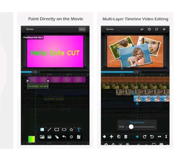 تطبيق  Cute CUT لتصميم الفيديوهات آخر إصدار للأندرويد.
