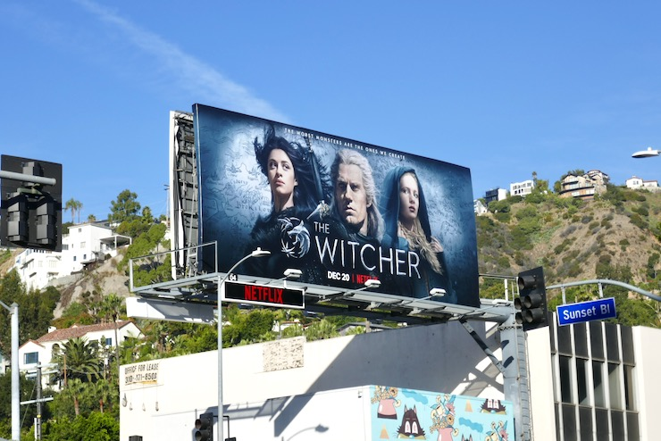 Witcher Netflix series billboard