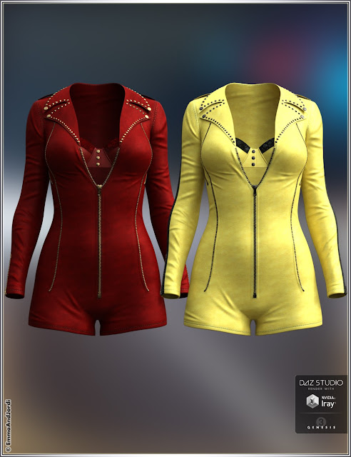 Highway Star Outfit and Accessories for Genesis 3 Female