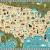 Mythical Beasts of the United States of America (Map)