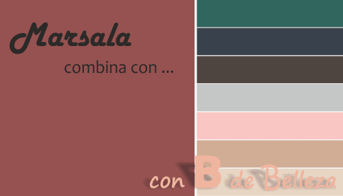Combinar color Marsala
