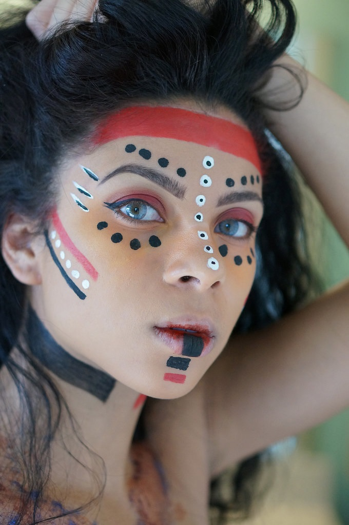 Combatant Avatar Halloween Makeup
