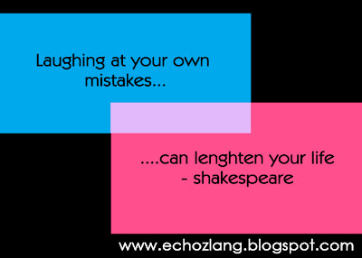 Laughing at you own mistakes can lengthen your life