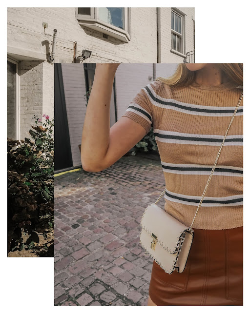 Zara Beige Gold Chain Crossbody Bag