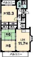 Do・三木ビル 徳島市 川内 3LDK シティハウジング シティ・ハウジング