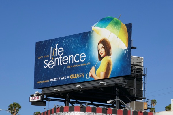 Life Sentence series launch billboard
