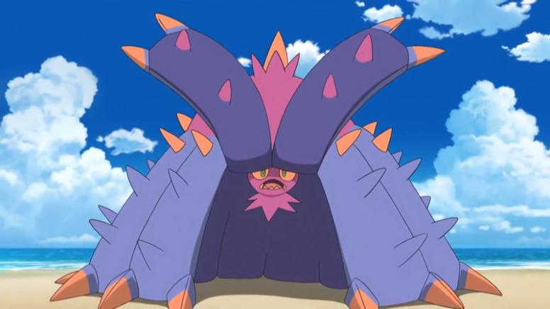 Toxapex Roxo Anime Pokémon