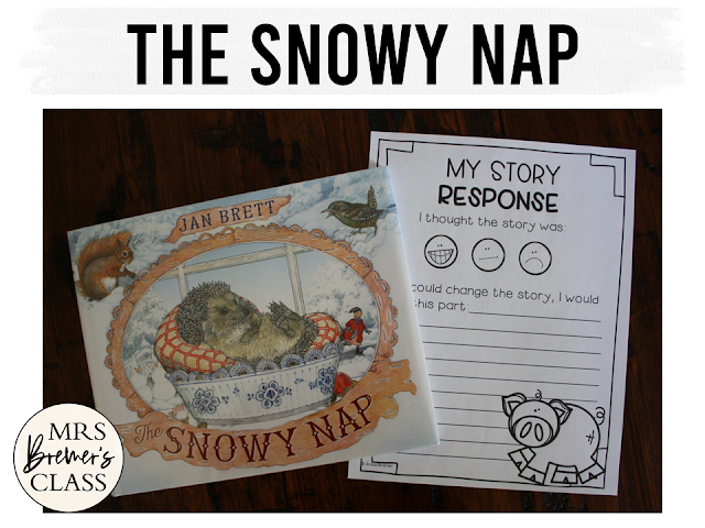 The Snowy Nap winter book study literacy unit with Common Core aligned companion activities and a craftivity for K-1