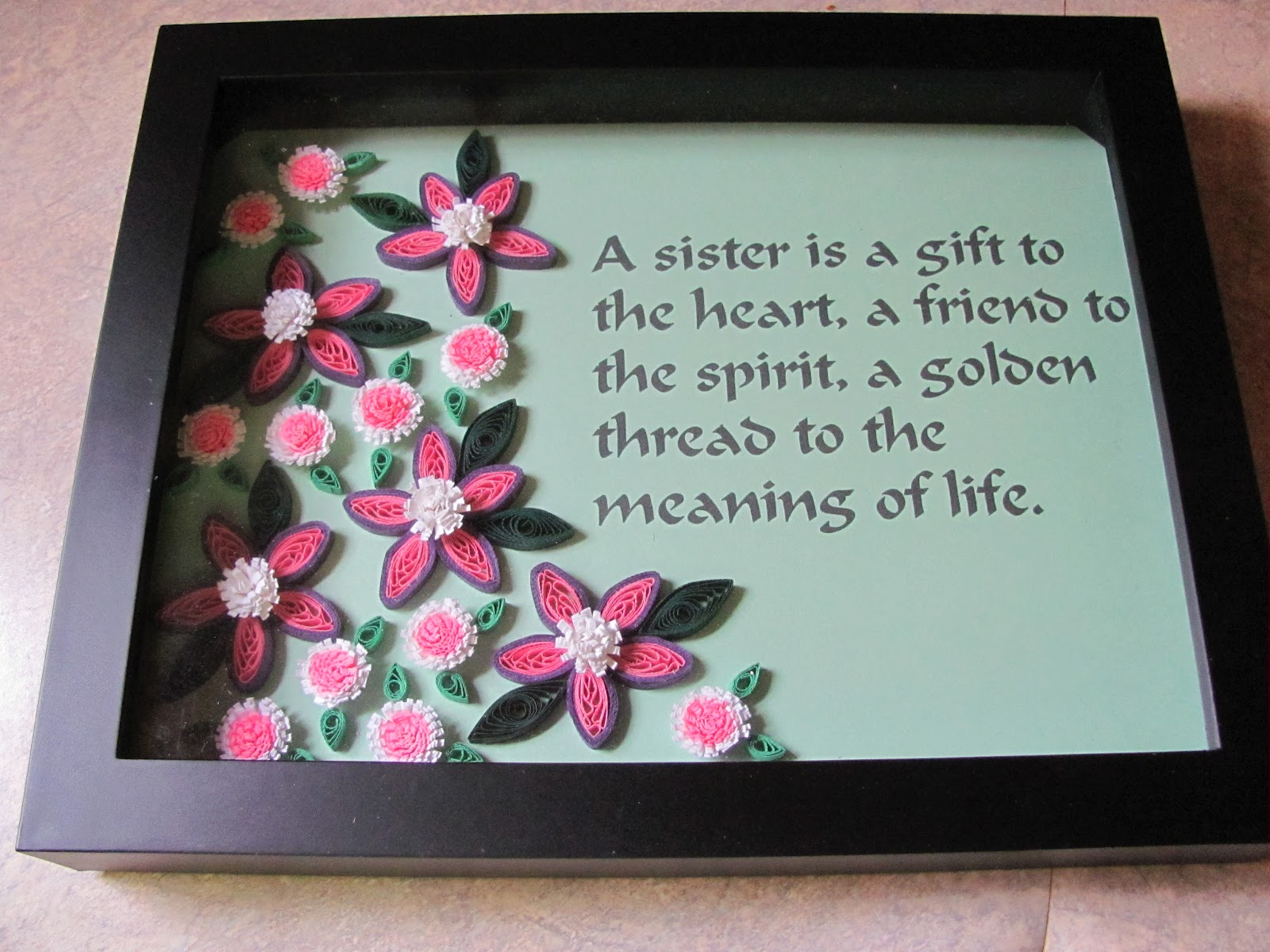Chillin With Quillin By Paula Hogue Quilled Flowers With Quote