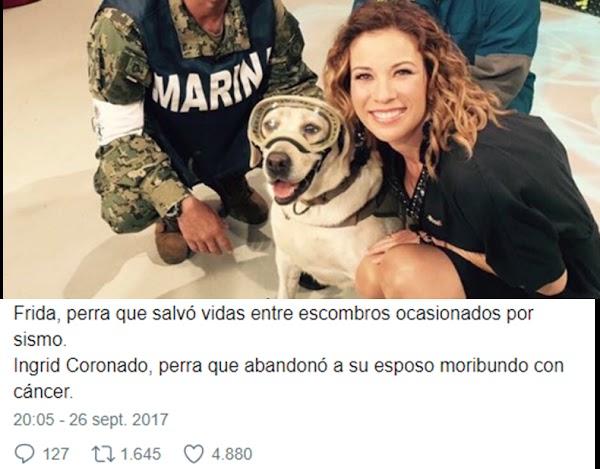 Ingrid Coronado se toma selfie con la perrita Frida y las redes la destrozan