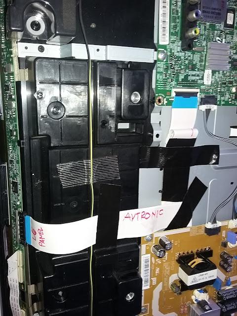 Pasang panel sharp ke unit TV Samsung