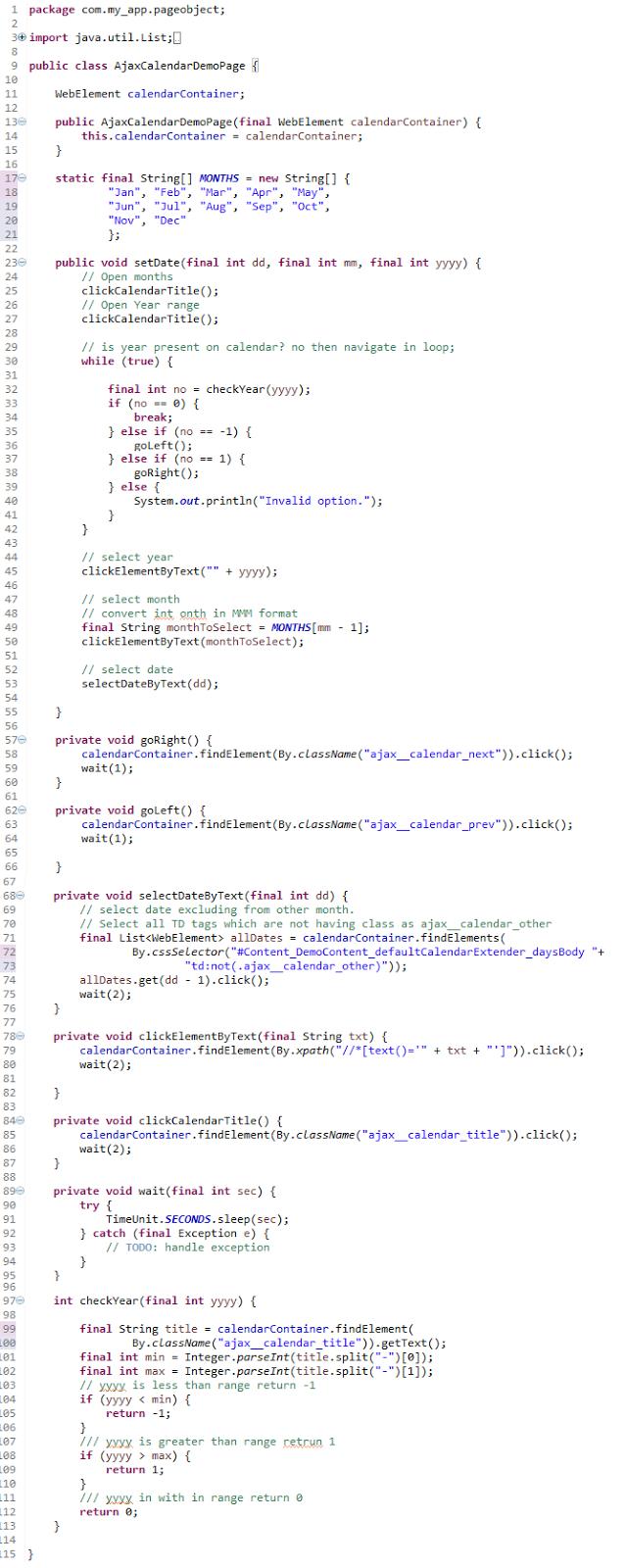 Vikas Thange: Calendar Control / DatePicker Automation with Selenium