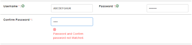 picture of confirm password option