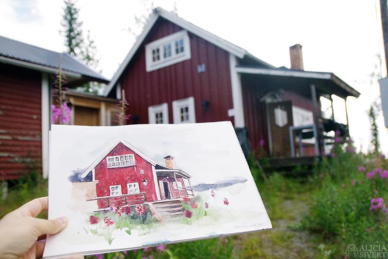aliciasivert alicia sivertsson sivert friluftsmåleri måleri måla hus husmåleri husmålning målning akvarell husakvarell
