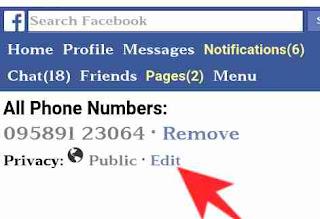 Facebook mobile number hide kaise kare 4