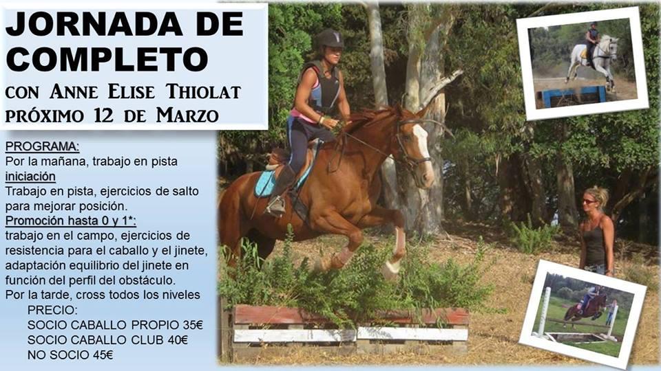 tres vías equitación