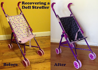 Recovering a Doll Stroller @ whatilivefor.net