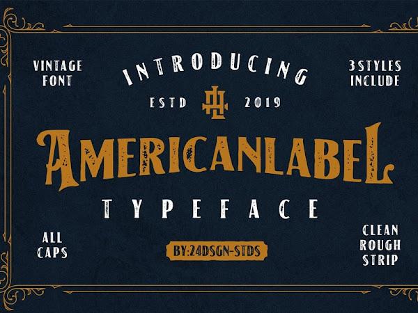 American Label Vintage Font Free Download
