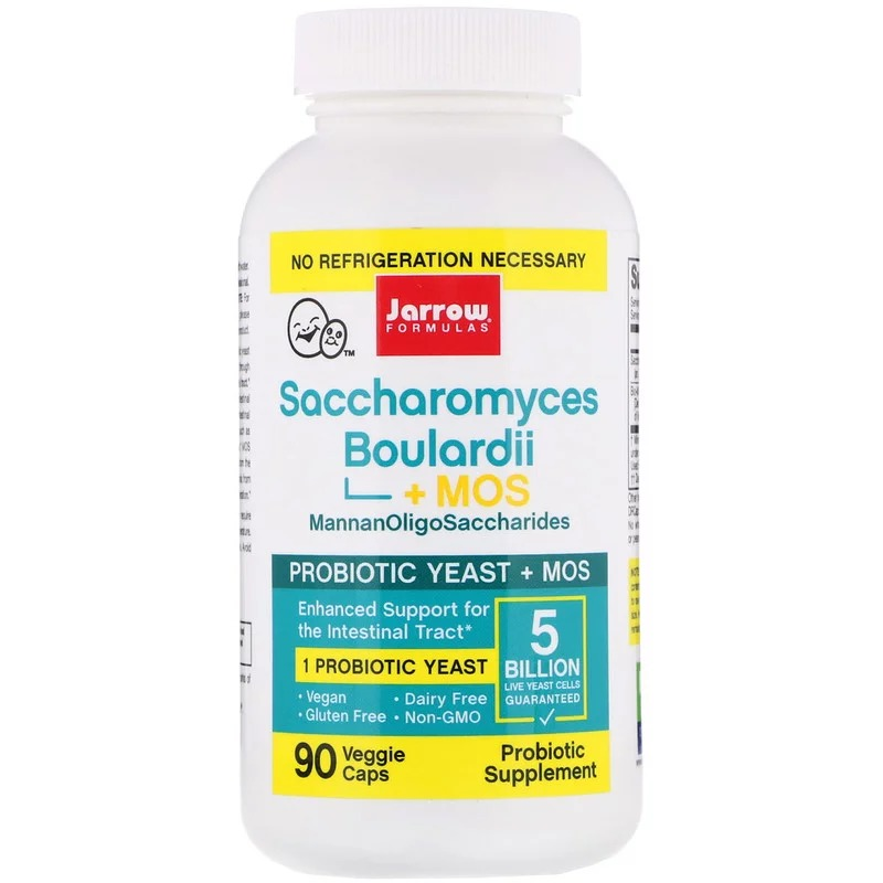 Jarrow Formulas, Saccharomyces Boulardii + MOS, 5 Billion, 90Veggie Caps