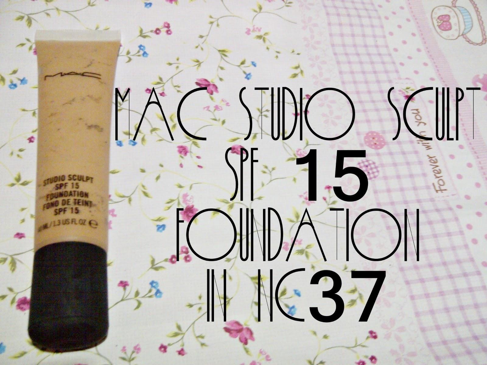 mac studio sculpt foundation nc37 review