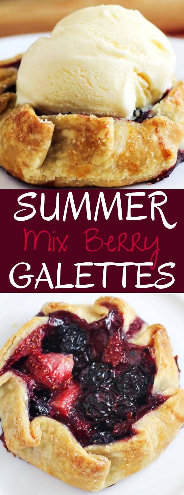 Mini Summer Berry Galettes #desserts #pastry