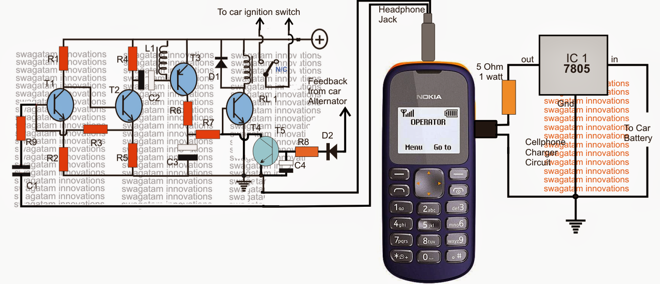 Cellphone Controlled Car Starter Circuit Electronic