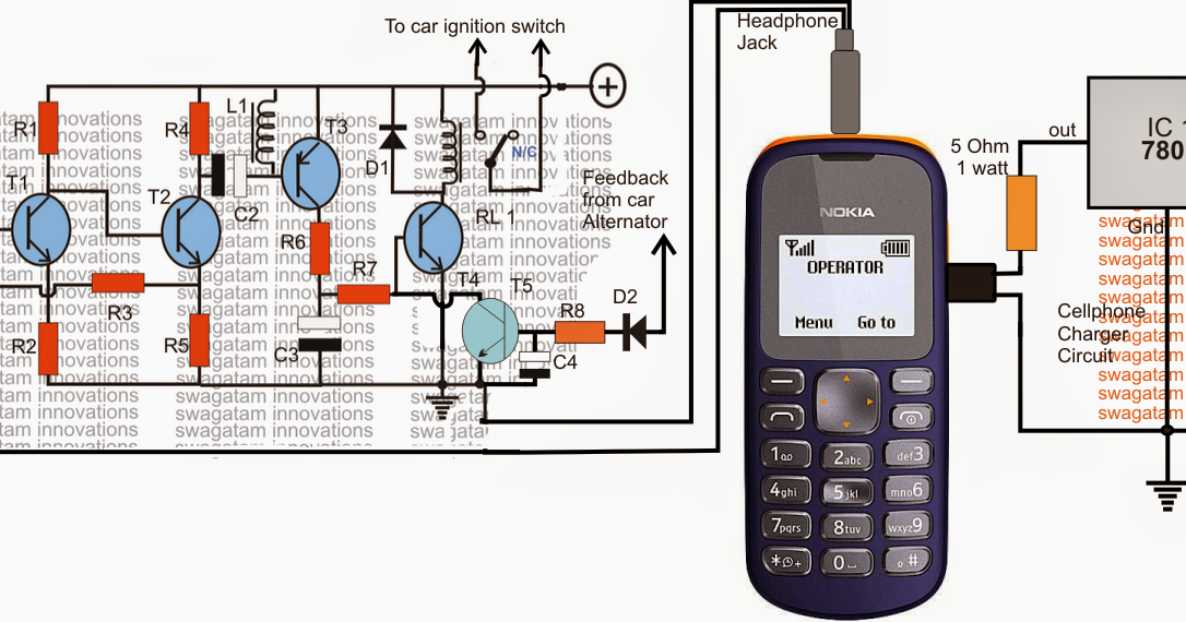 Draw Your Wiring   Cell Phone Motor Starter Controller Circuit Diagram