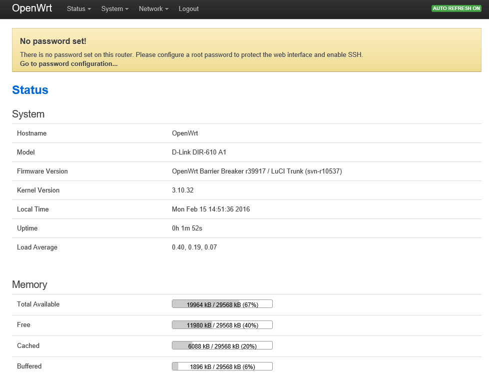 Viktor's DIY: Installing OpenWrt on D-Link DIR-600 Router