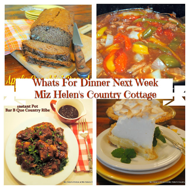 Whats For Dinner Next Week,8-30-20 at Miz Helen's Country Cottage