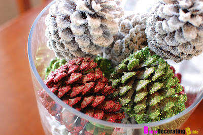 Christmas pinecone centerpiece