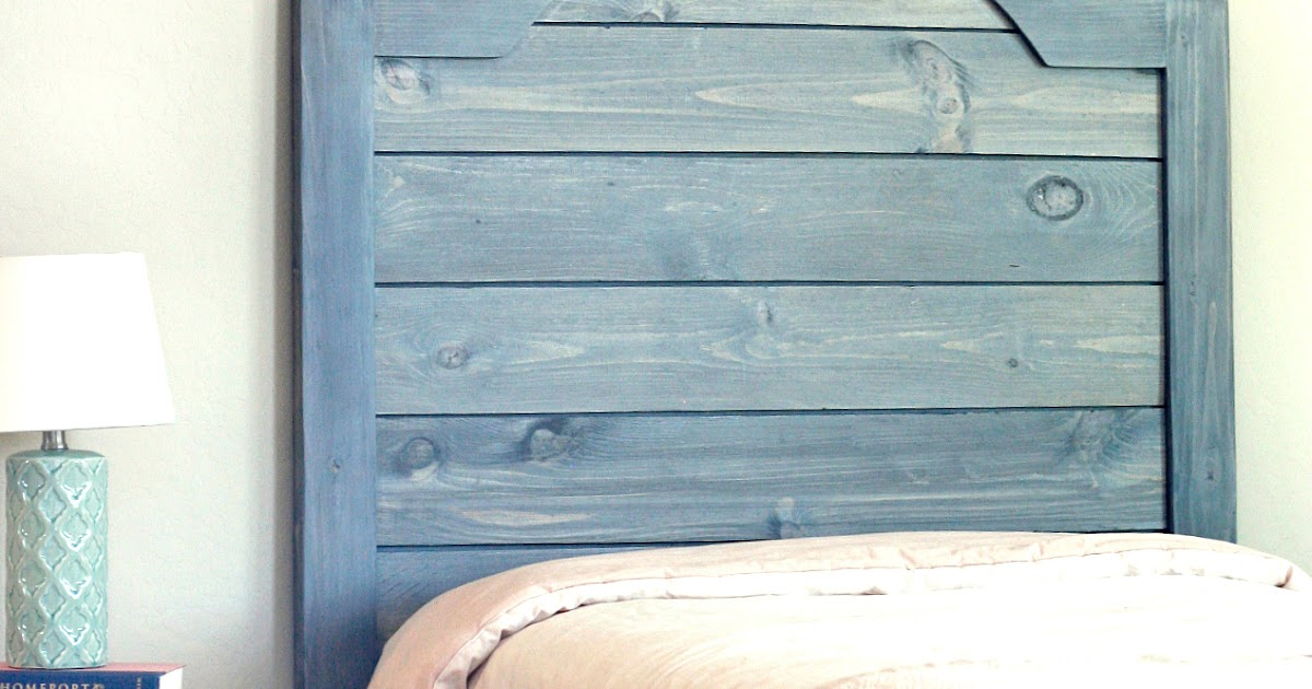 Faux Shiplap Headboard Tutorial