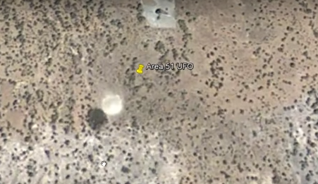 Google Maps Showing A Huge Metallic UFO Again Over Nevada USA