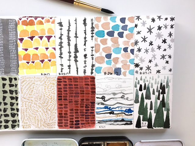 100DaysProject - daily pattern days 33-48 part two - by Amy Lamp