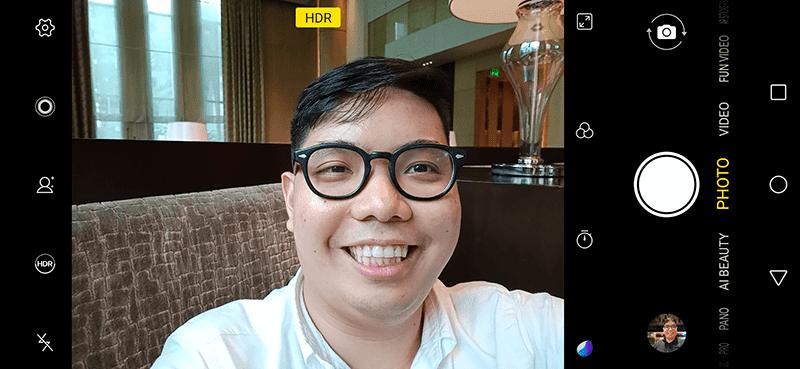 Front-facing camera app