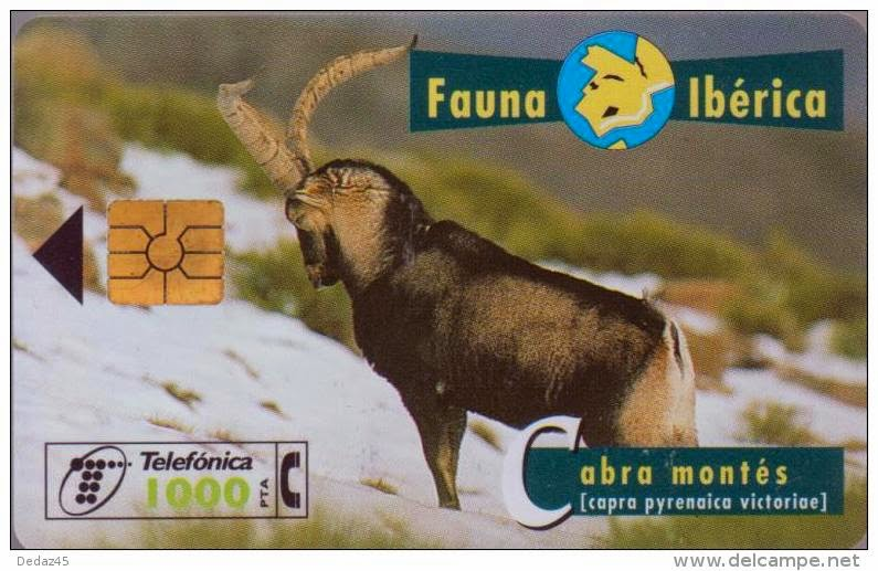 Tarjeta telefónica Cabra montés (Capra pyrenaica victoriae)