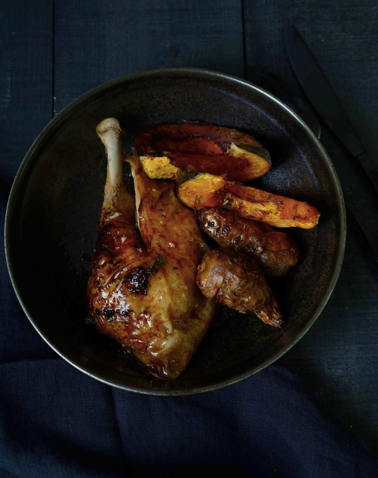 recette réconfortante , comfort food , poulet au four
