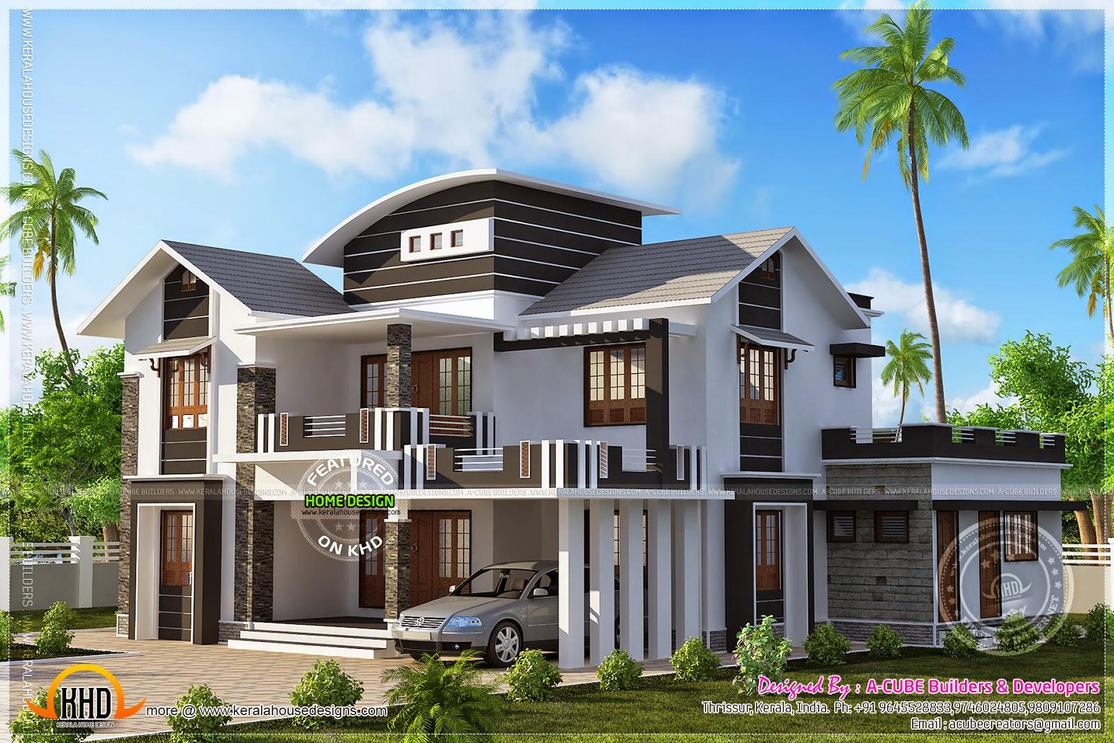 Well Designed Villa Exteriors Kerala Home Design And