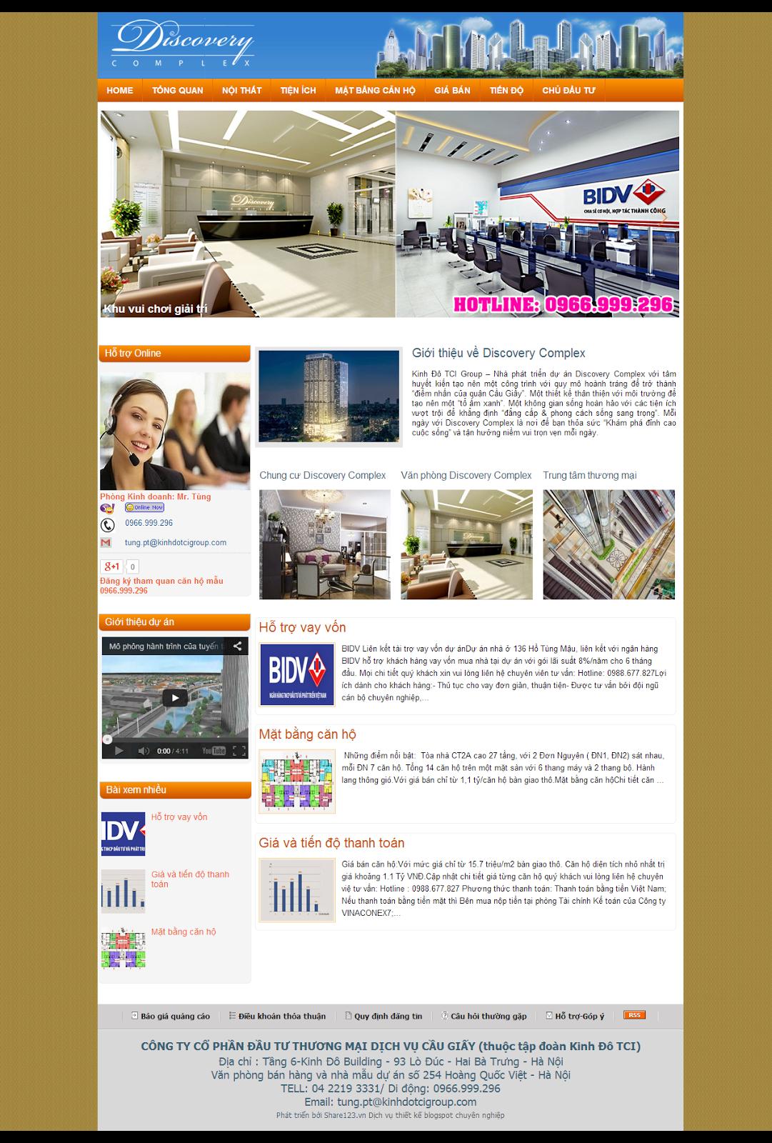 Mẫu blog website bán bất động sản đẹp