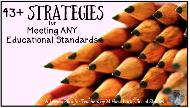 Find great strategies that can be used in any classroom to meet any educational standards. The more you focus on the strategies and the students, the easier it will be to check off those standards boxes!