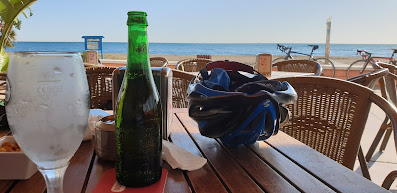 Reward yourself with a cold beer on the Costa del Sol after a day of cycling