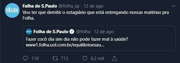 Falha de São Paulo - Sátira, versus Folha de São Paulo