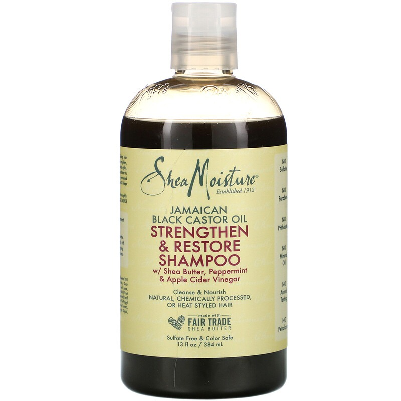 SheaMoisture, Jamaican Black Castor Oil, Strengthen & Restore Shampoo, 13 fl oz (384 ml)