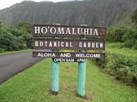 The Welcome sign - Ho'omaluhia Botanical Garden, Kaneohe, HI