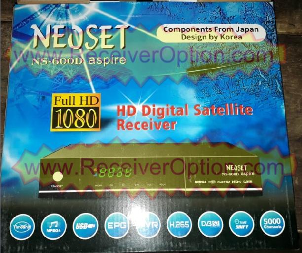 NEOSET NS-600D ASPIRA HD RECEIVER TEN SPORTS OK NEW SOFTWARE BY USB