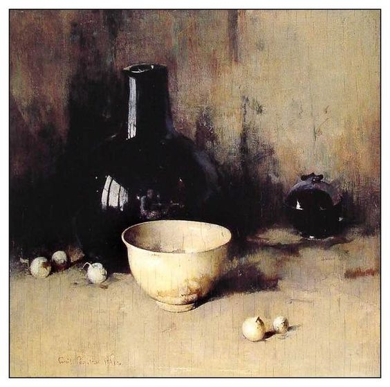 Magnificent still life painting with white bowl by Jean Baptiste Simeon Chardin