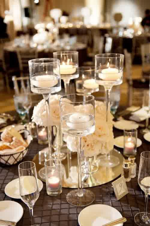 3 Attractive Centerpieces Winter Wedding Table Dresses