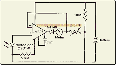 Logarithmic Light Meter Circuit Diagram